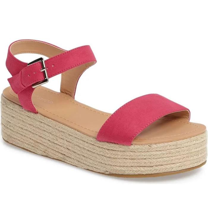 Topshop Women's Dream Platform Espadrille Sandal