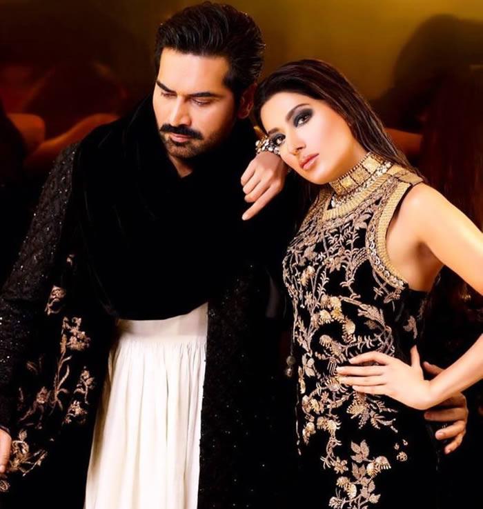Punjab Nahi Jaungi Humayun Saeed and Mehwish Hayat Shoot for a Magazine