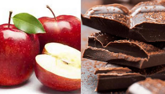 Apples + dark chocolate