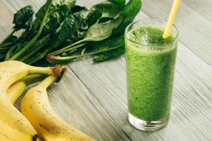 Banana + spinach