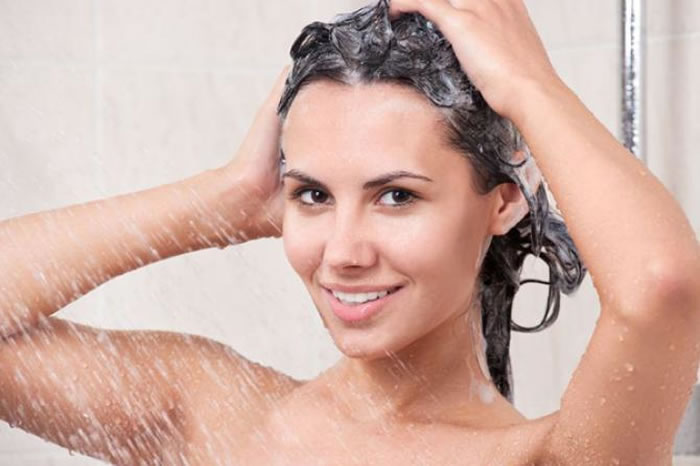 massage the shampoo in gently