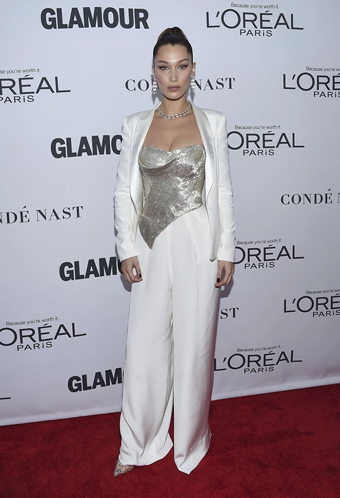 Bella Hadid White dress
