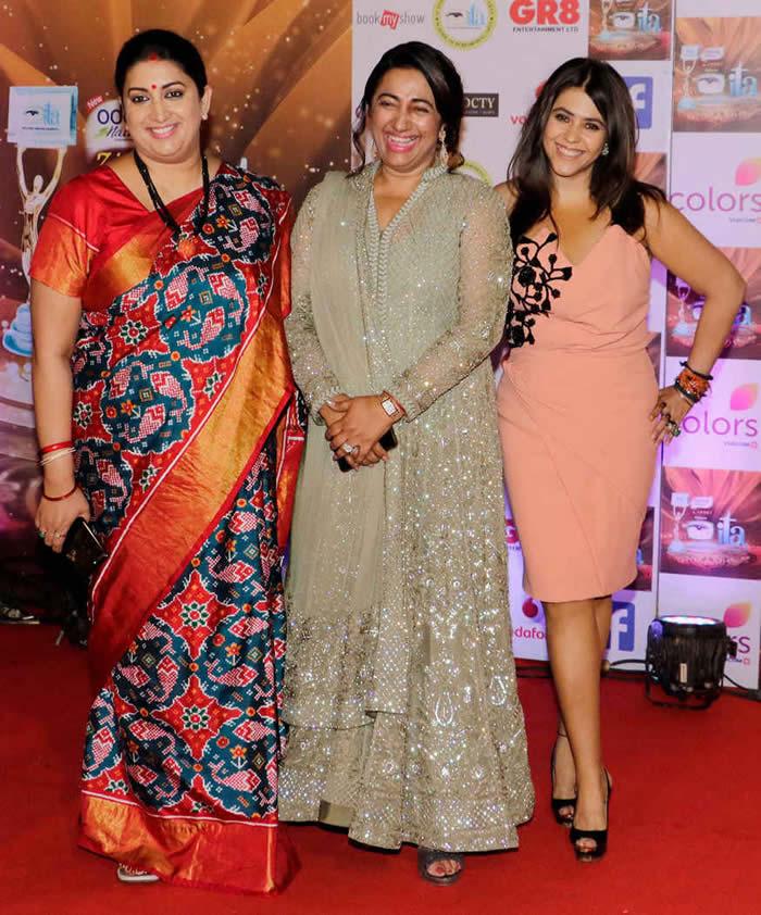 Smriti Irani, Anu Ranjan and Ekta Kapoor