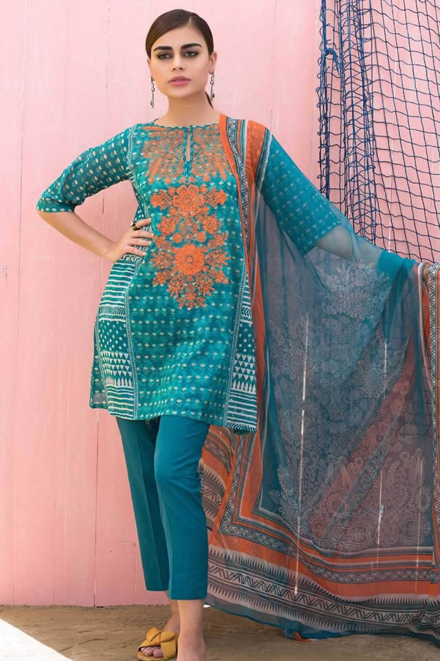 """177c6cb85a Khaadi, Pakistan's premium retail and lifestyle brand welcomes spring 2018  with its new unstitched collection, further divided into the Khaadi's  """"Tropical ..."""