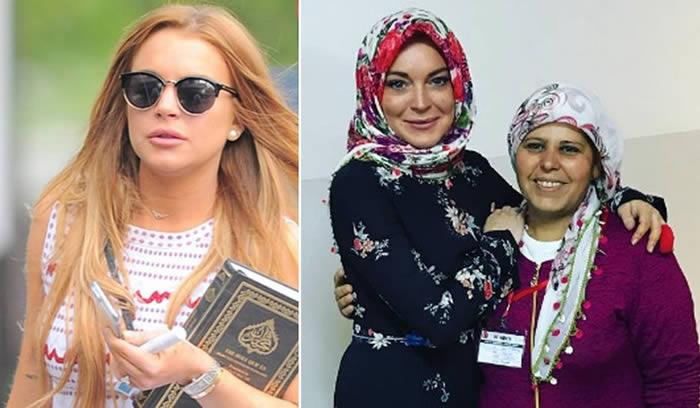 Lindsay Lohan Wears Hijab