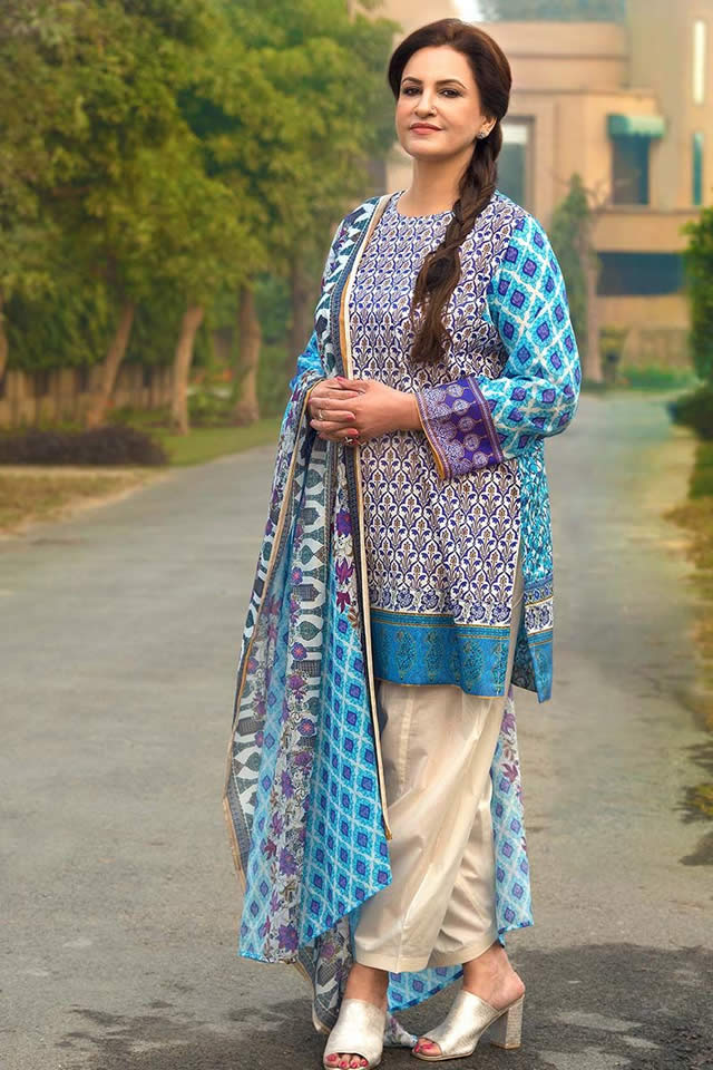 f82f2c646a14 Pakistan famous clothing brand Gul Ahmed launched its summer premium lawn  collection 2018.