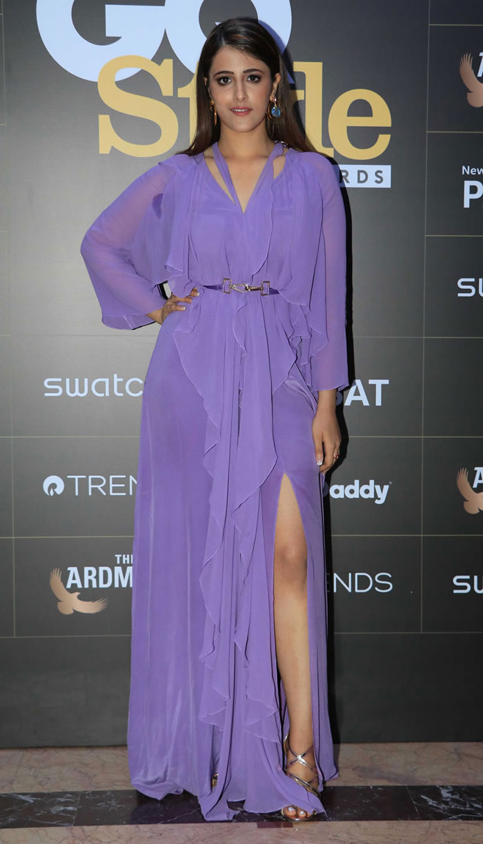 Nupur Sanon poses for a photo on her arrival at the GQ Style Awards 2018 in Mumbai