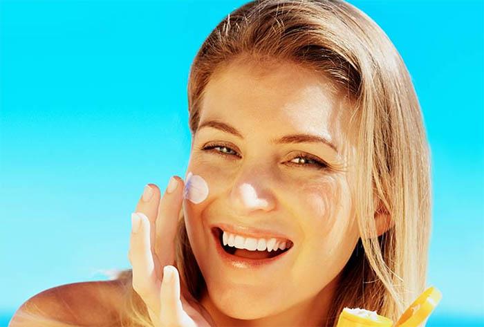 Avoid using sunblock