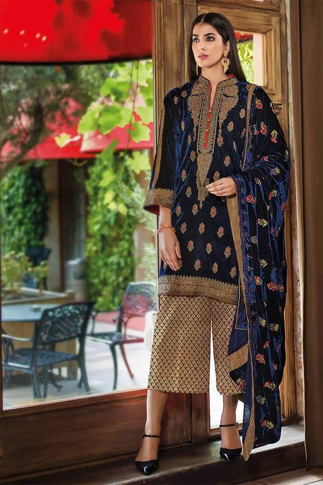4b683d2153 Gul Ahmed Noor-e-Chasham Velvet Formal Collection 2018