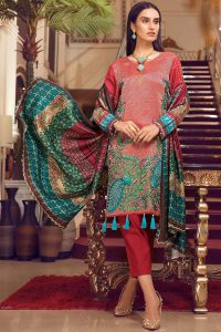 e05907ce00 Warda has launched its Melange winter 2018 for ladies. The new compilation  contains the UNSTITCHED 3PC Melange Embroidery suit, shalwar kameez and  dupatta.