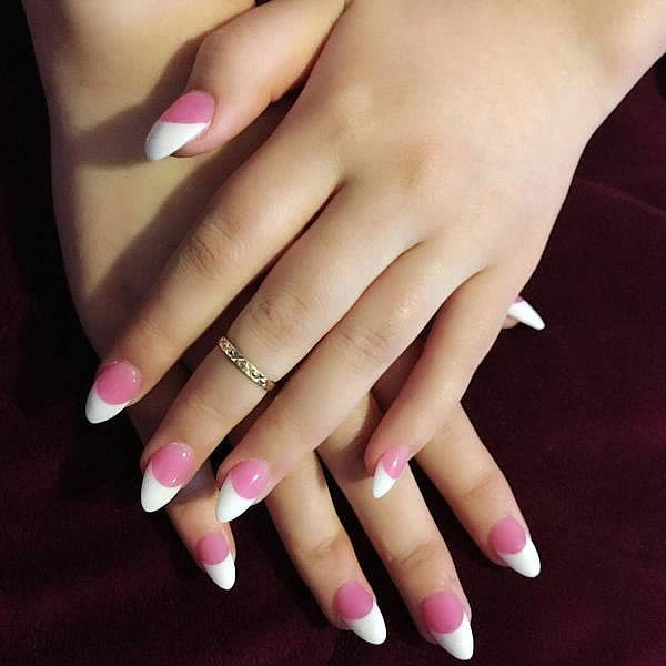 The Best Way to Do Pink and White Nails
