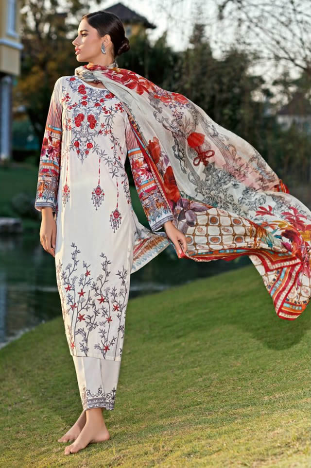 Gul Ahmed Embroidered Lawn Collection 2020